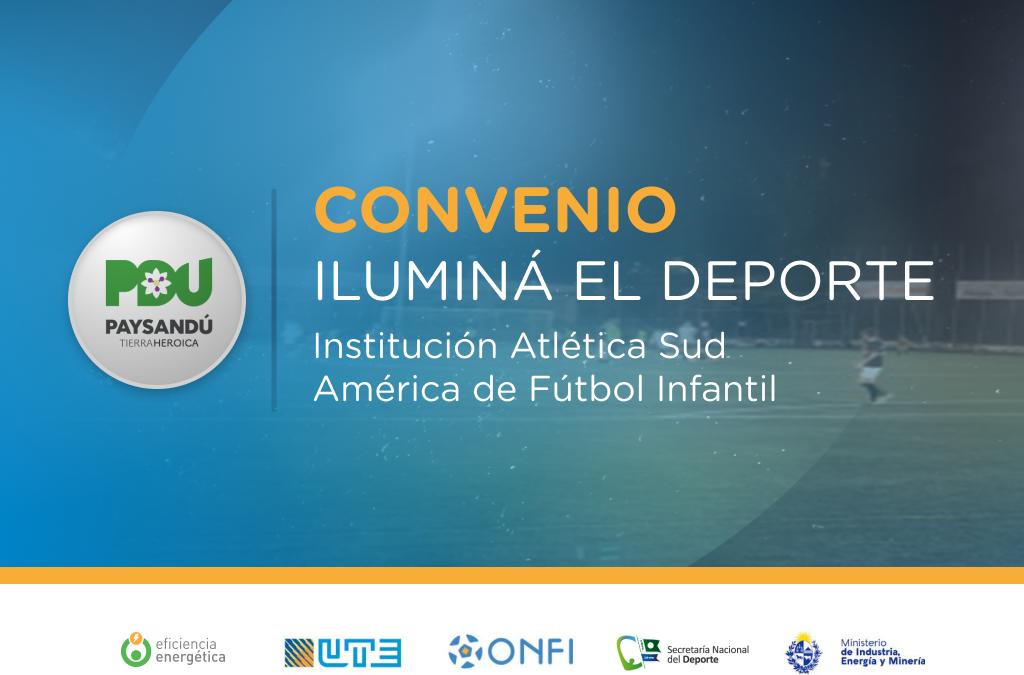 Iluminá el Deporte en la Institución Atlética Sud América de Fútbol Infantil